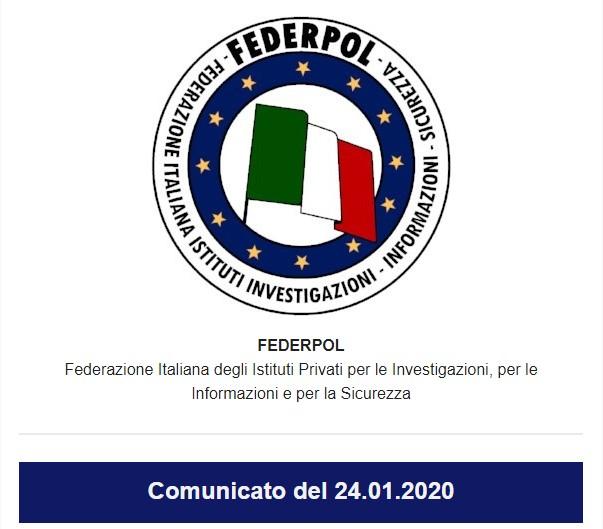 Comunicato del 24.01.2020